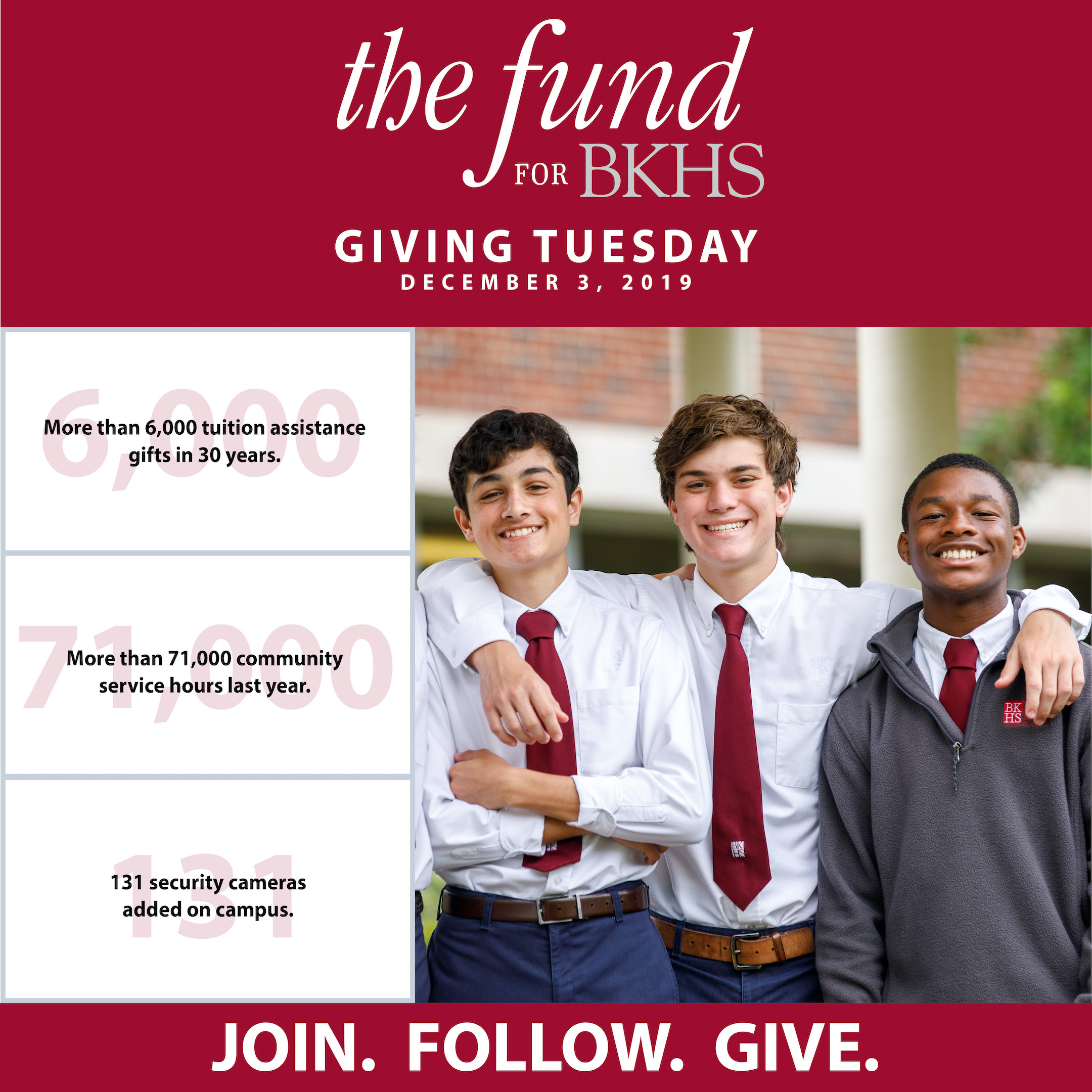 Join. Follow. Give on Giving Tuesday.